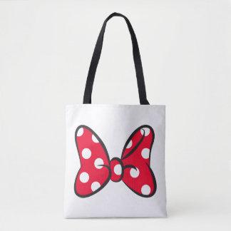 Trendy Minnie | Red Polka Dot Bow Tote Bag
