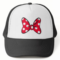 Trendy Minnie | Red Polka Dot Bow Trucker Hat