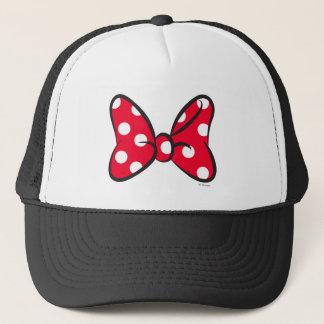 Trendy Minnie | Red Polka Dot Bow Trucker Hat