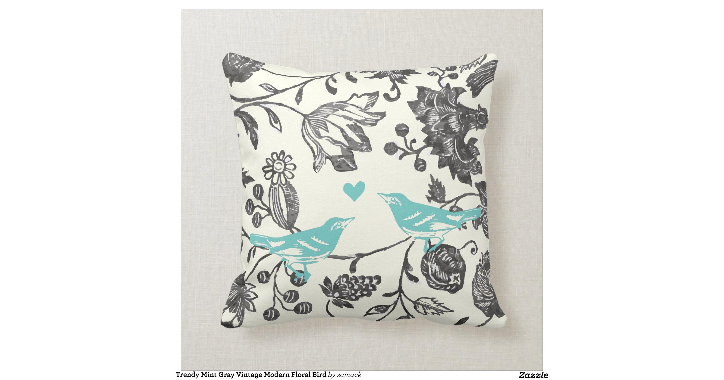 trendy_mint_gray_vintage_modern_floral_bird_pillow-r80737cbce90b4502b12b04d10c3d37fd_i52ni_8byvr ...