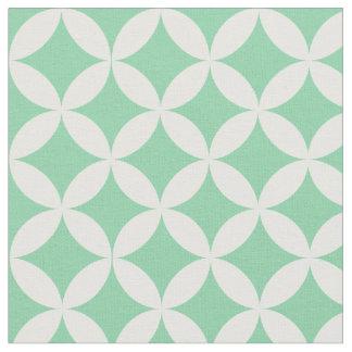 Trendy Mint Green Diamond Lattice Pattern Fabric