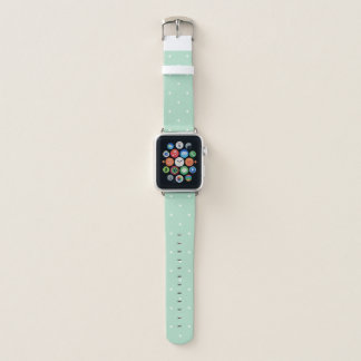 Trendy Mint Green Polka Dots Apple Watch Band