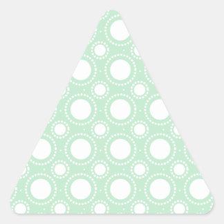 Trendy Mint Green Polka Dots Triangle Sticker