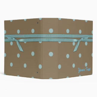 Trendy Mocha and Turquoise Dotty binder