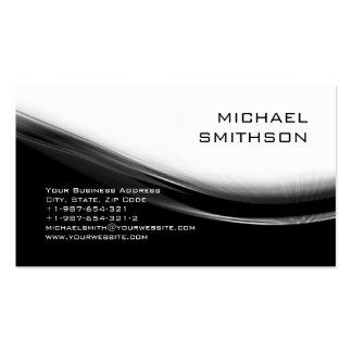 Trendy Modern Black White Grey Business Card
