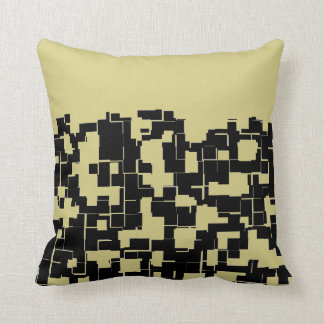 Trendy Modern Black/Yellow Green (Changeable) Throw Pillow