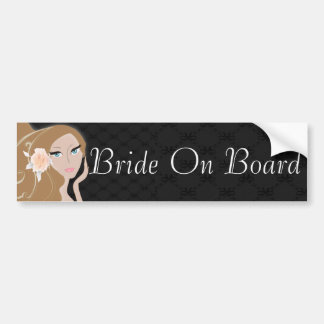 trendy modern bride fashionista bridal shower bumper sticker