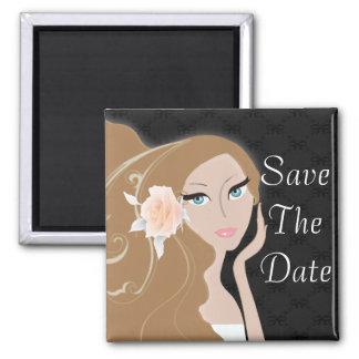 trendy modern bride fashionista bridal shower magnet