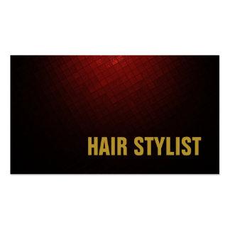 Trendy Modern Brownish Red Hair Stylist Business Card