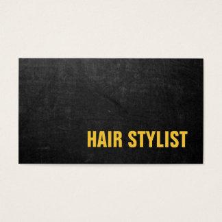 Trendy Modern Chalkboard Hair Stylist Business Card