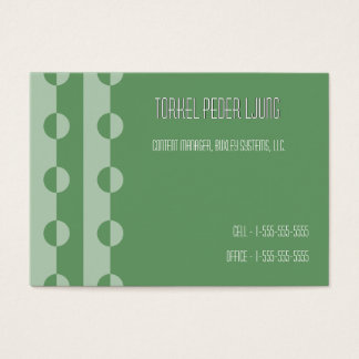 Trendy Modern Changeable Color Dot Chubby BizCards Business Card