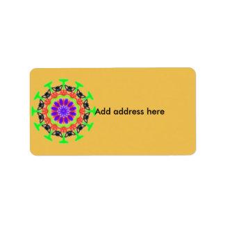 Trendy modern colorful pattern label