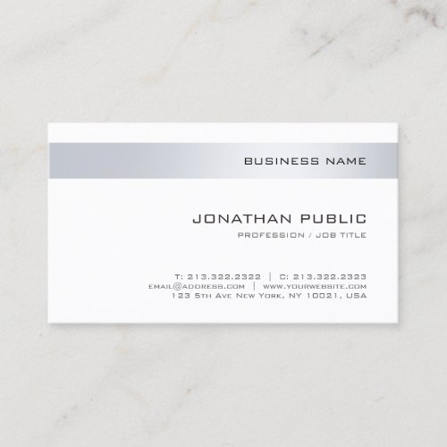 Trendy Modern Company Elegant Simple Template Business Card