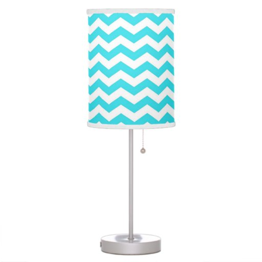 trendy modern delightful aqua blue chevron desk lamps. Black Bedroom Furniture Sets. Home Design Ideas