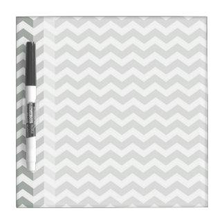 Trendy, modern, elegant grey chevron zigzag stripe Dry-Erase board