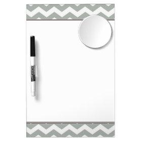 Trendy, modern, elegant grey chevron zigzag stripe Dry-Erase whiteboard