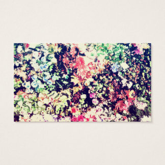 Trendy Modern Floral Collage Business Card