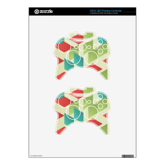 trendy,modern,graphic,retro,pattern,squares,templa xbox 360 controller decal