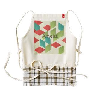 trendy,modern,graphic,retro,pattern,squares,templa zazzle HEART apron