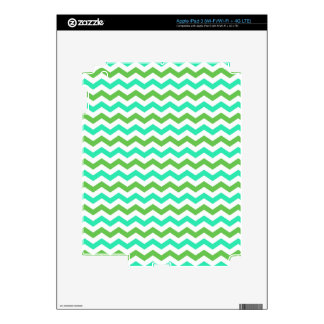 Trendy, modern, green chevron zigzag stripes iPad 3 skin