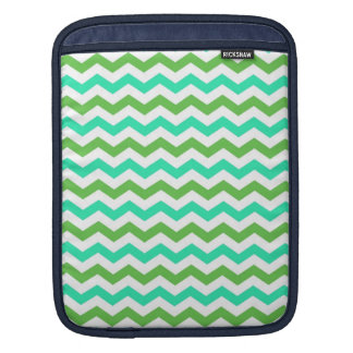 Trendy, modern, green chevron zigzag stripes sleeve for iPads