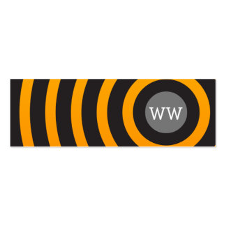 Trendy Modern Monogram Black and Yellow Circles Business Card Templates