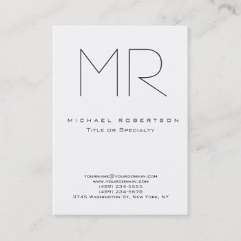 Browse products at zazzle with the theme manufacturing business trendy modern monogram plain minimalist business card reheart Images