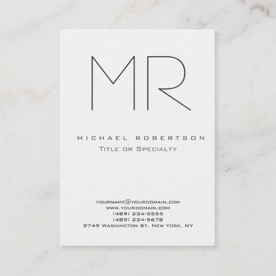 Trendy modern monogram plain minimalist business card zazzle trendy modern monogram plain minimalist business card colourmoves