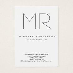 Trendy Modern Monogram Plain Minimalist Business Card at Zazzle