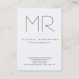 Retro business cards 19500 retro business card templates trendy modern monogram plain minimalist business card reheart Images