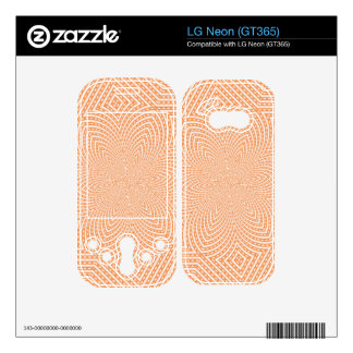 Trendy modern pattern decals for the LG neon
