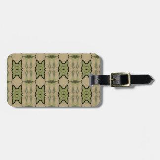 Trendy modern pattern travel bag tags
