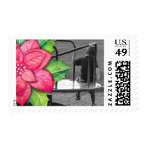 Trendy Modern Photo Holiday Stamps