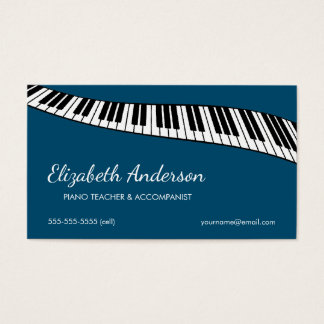 Trendy & Modern, Piano Teacher & Accompanist Business Card