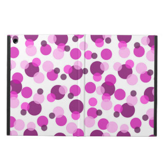 Trendy Modern Pink and Purple Polka Dot Pattern Case For iPad Air
