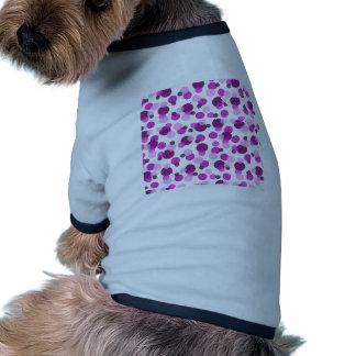 Trendy Modern Pink and Purple Polka Dot Pattern Dog Tee