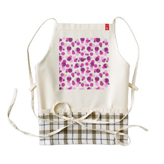 Trendy Modern Pink and Purple Polka Dot Pattern Zazzle HEART Apron