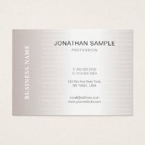Trendy Modern Plain Simple Elegant Design Luxury Business Card