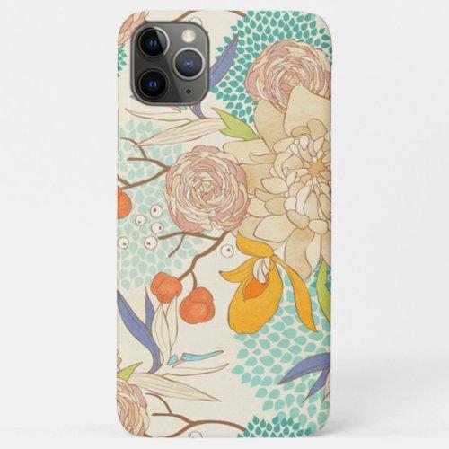 Trendy Modern Rose Peony Flower Pattern Phone Case