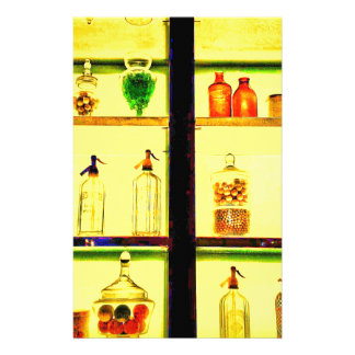Trendy Modern Shelves with Glass Containers Stationery