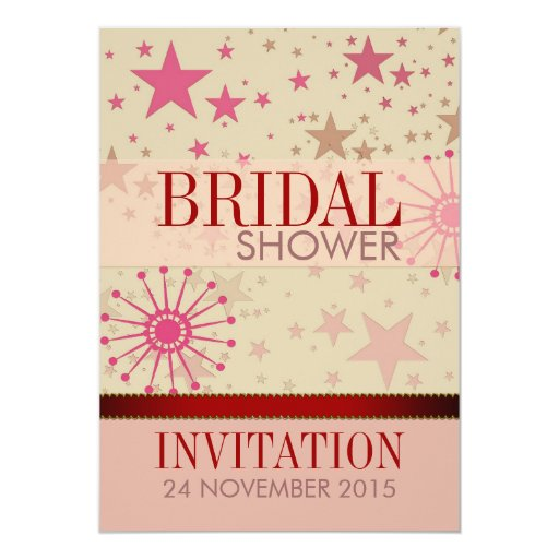 Trendy Modern Stars Bridal Shower Party Invitation