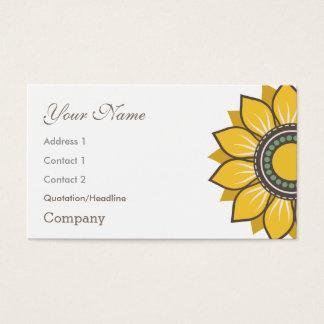 Trendy Modern Sunflower Floral Design Business Card