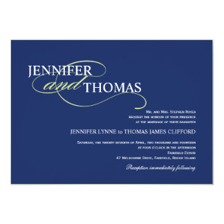 Trendy Modern Typography Elegant Simplicity 5x7 Paper Invitation Card