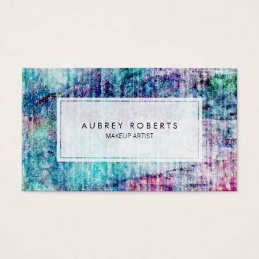Beach Themed Trendy Modern Watercolor Pattern Professional Business Card