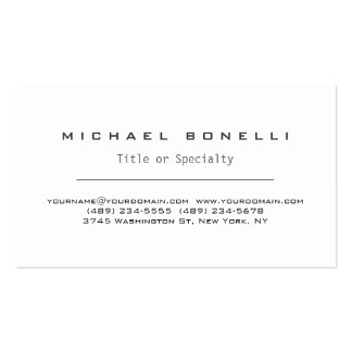 Trendy Modern White Simple Stylish Business Card