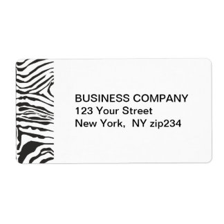 Trendy Modern  Zebra Black White Pattern Label