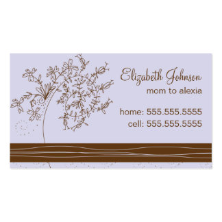 Trendy Mommy Business Card-Lavender