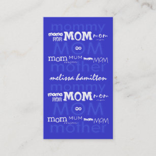 Jackson business cards templates zazzle trendy mommy calling cards colourmoves