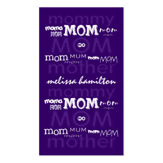 Trendy Mommy Calling Cards Business Card