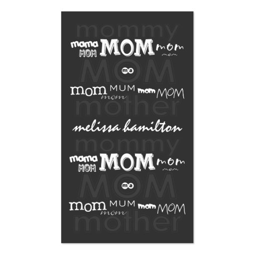 Calling card business card templates page35 bizcardstudio trendy mommy calling cards business card template reheart Image collections